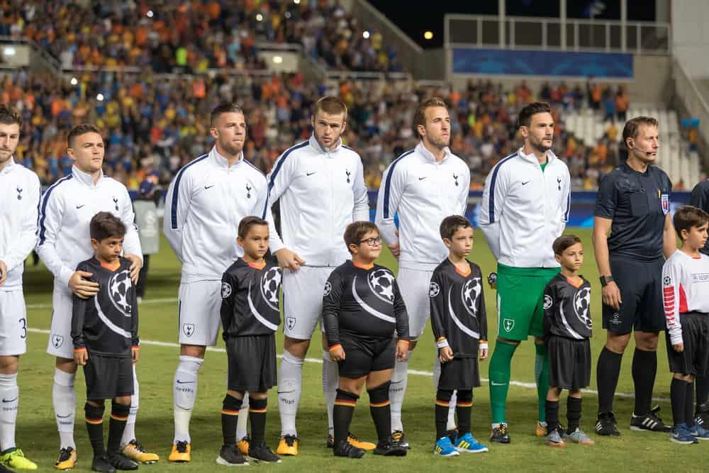 Tottenham lineup forud for UEFA Champions League kamp APOEL VS Tottenham Hotspur. 26. september 2017