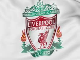 Flag med Liverpool F.C. football