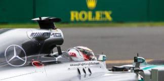 Mercedes Formel1 bil i Australien