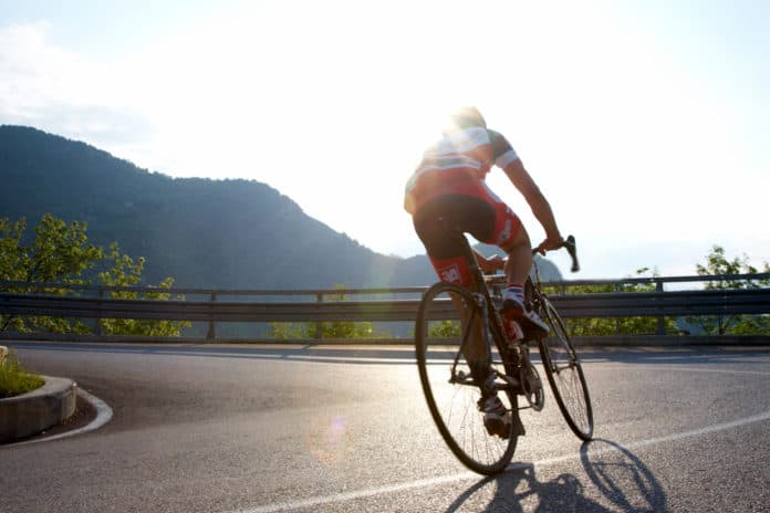 Tilfældig cykelrytter i Italien